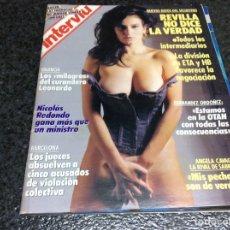 Coleccionismo de Revista Interviú: INTERVIU Nº 652 AÑO 1988. PORTADA: ANGELA CAVAGNA LA RIVAL DE SABRINA, MIS PECHOS SON DE VERDAD. Lote 112359979