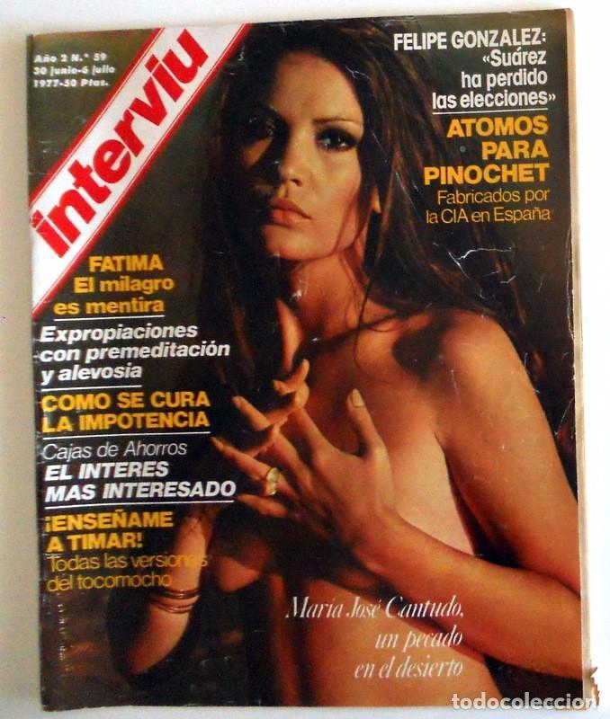 Revista Interviu Nº59 Junio 1977 Maria Jose Cantudo Desnuda Portada Reportaje