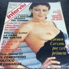 Colecionismo da Revista Interviú: INTERVIU Nº 67 AGOSTO 1977 CARMEN TITA CERVERA BARONESA THYSSEN. Lote 79658273