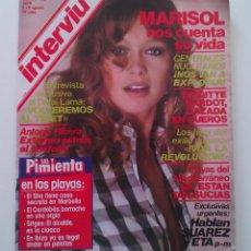 Coleccionismo de Revista Interviú: REVISTA INTERVIÚ. Nº169. AÑO 1979. MARISOL.. Lote 80733714