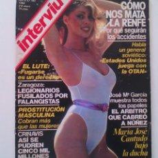 Coleccionismo de Revista Interviú: REVISTA INTERVIÚ Nº190. AÑO 1980. CON FOTOS DE LA CANTUDO.. Lote 80734498