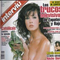 Coleccionismo de Revista Interviú: REVISTA INTERVIU Nº 1453 AÑO 2004. MARÍA CAMPOY. LOS TRUCOS TELEVISIVO. PESTICIDAS. . Lote 80970156