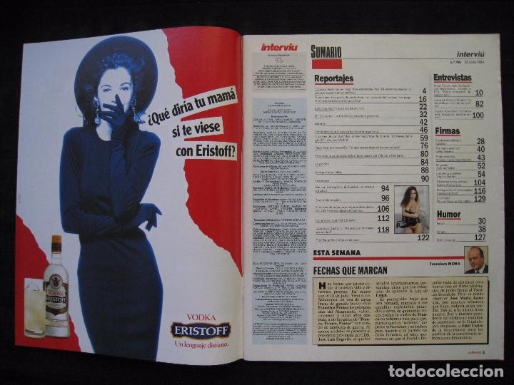 Coleccionismo de Revista Interviú: REVISTA INTERVIU - Nº 795 - JULIO / AGOSTO 1991. - Foto 4 - 86366984
