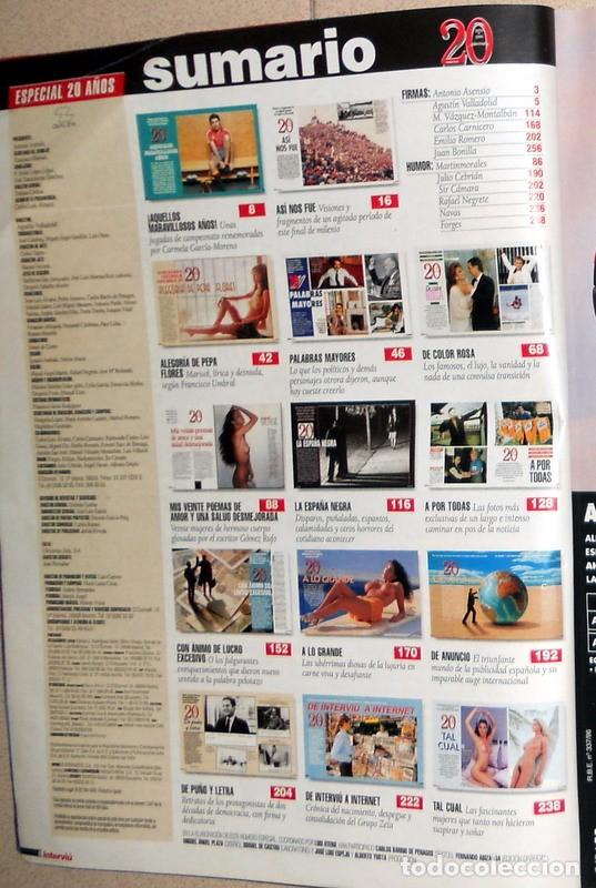 Coleccionismo de Revista Interviú: NUMERO ESPECIAL REVISTA INTERVIU. 20 AÑOS de INTERVIU. 1976-1996 NUMERO EXTRA. MARISOL SABRINA - Foto 2 - 87184732