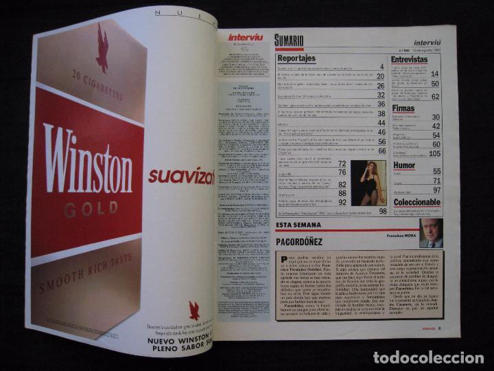 Coleccionismo de Revista Interviú: REVISTA INTERVIU - Nº 850 - AGOSTO 1992. - Foto 3 - 89662088