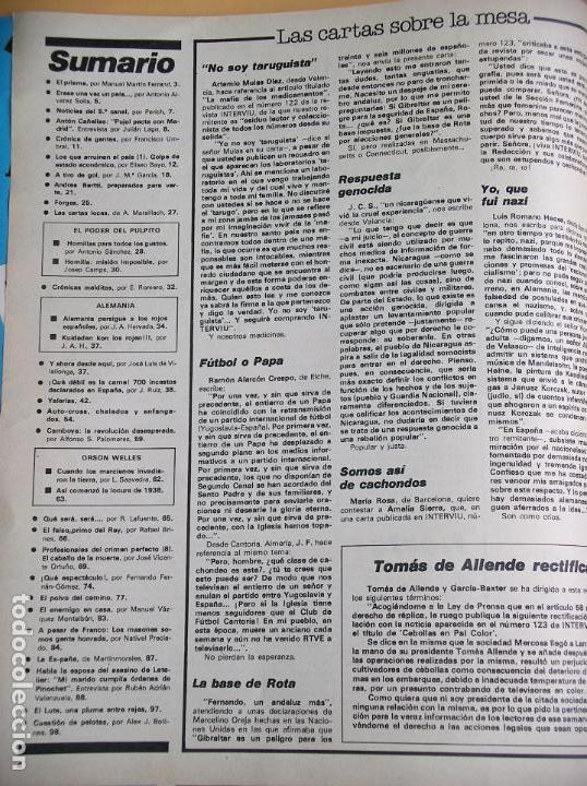 Coleccionismo de Revista Interviú: Interviú nº 127, año 1978, Amparo Muñoz, ercom - Foto 2 - 93270600