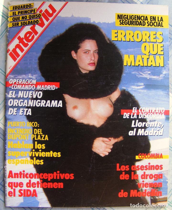 REVISTA INTERVIU Nº 558 ENERO DE 1987 (Coleccionismo - Revistas y Periódicos Modernos (a partir de 1.940) - Revista Interviú)