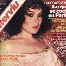 Coleccionismo de Revista Interviú: INTERVIU - Nº 112 - AGATA LYS - GUINEA - MARÍA MARTÍN - EUROFASCISTAS - MERCEDES MILÀ. Lote 95556475