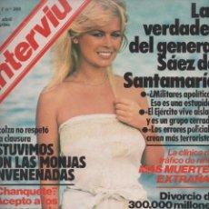 Coleccionismo de Revista Interviú: REVISTA INTERVIÚ Nº 308 ABRIL 1982: OFENSIVA TERRORISTA CONTRA EL GOBIERNO SOCIALISTA FRANCÉS. Lote 95629859