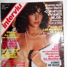 Coleccionismo de Revista Interviú: REVISTA INTERVIU Nº156 MAYO 1979.ADRIANA VEGA.NAZIS MADRID VALENCIA NAZISMO REPORTAJE.SAL Y PIMIENTA. Lote 95680463