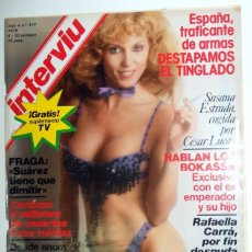 Coleccionismo de Revista Interviú: REVISTA INTERVIU Nº177 OCTU 1979. SUSANA ESTRADA. RAFAELLA CARRÁ DESNUDA. MIGUEL BOSÉ. TELEVISION. Lote 95706663