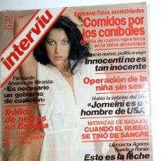 Coleccionismo de Revista Interviú: REVISTA INTERVIU Nº235 NOVIEMBRE 1980. PORTADA NORMA DUVAL. REVISTA PROTAGONISTAS MIGUEL BOSÉ. Lote 95707103