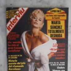 Coleccionismo de Revista Interviú: REVISTA INTERVIU Nº 788 - MARTA SANCHEZ -. Lote 98480219