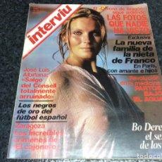 Coleccionismo de Revista Interviú: INTERVIU Nº 191, AÑ0 1980, BO DEREK EL SEXO DE LOS 80,. Lote 98593135