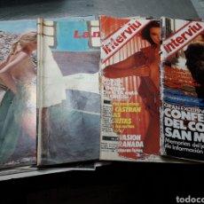 Coleccionismo de Revista Interviú: LOTE 5 REVISTAS INTERVIÚ AÑOS 70-80. Lote 104449470