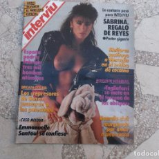 Collectionnisme de Magazine Interviú: INTERVIU Nº 608, SABRINA CON POSTER, CASO MELODI, LOS REPRESORES DE GAZA MASACRAN A LOS PALESTINOS. Lote 234290025
