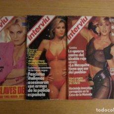Coleccionismo de Revista Interviú: LOTE REVISTA INTERVIÚ NÚMEROS 455, 400, 442. Lote 105698743