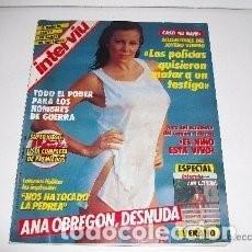 Coleccionismo de Revista Interviú: *ANA OBREGON * PORTADA Y REPORTAJE* REVISTA INTERVIU 535 AGOSTO 1986 * 20. Lote 111403515