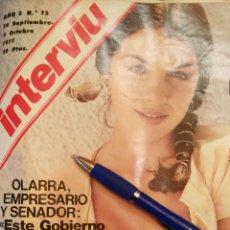 Coleccionismo de Revista Interviú: INTERVIU N°72 (1977). Lote 112124270