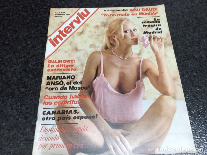 INTERVIU Nº 38 AÑO 1977 DOMINIQUE SANDA DESNUDA - MARIANO ANSÓ (Coleccionismo - Revistas y Periódicos Modernos (a partir de 1.940) - Revista Interviú)