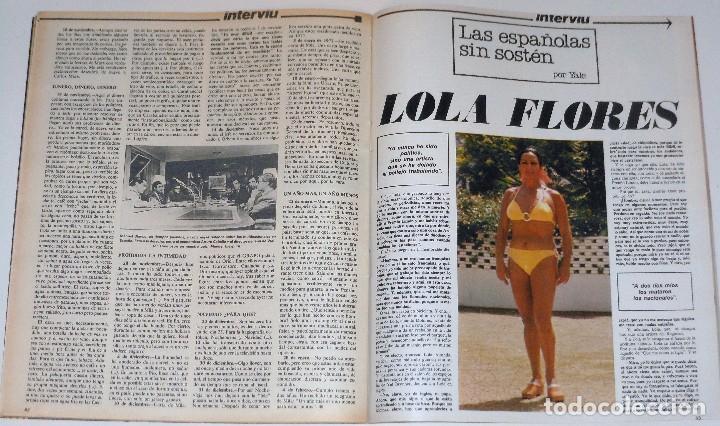 Coleccionismo de Revista Interviú: INTERVIU 1977 #45 Alicia Tomas Urquiola La Coruña Lola Flores revista - Foto 9 - 112432259