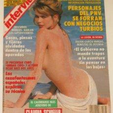 Coleccionismo de Revista Interviú: INTERVIU #861 1992 CLAUDIA SCHIFFER SEXY MADONNA IMAN SPAIN MEN'S MAGAZINE REVISTA. Lote 112436787