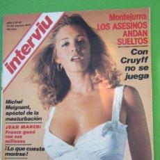 Coleccionismo de Revista Interviú: INTERVIU N.40 , 1977 , MASTURBACION , CRUYFF ,MONTEJURRA , SOMATEN ,PIO CABANILLAS , JUAN MARCH , ET. Lote 112750915