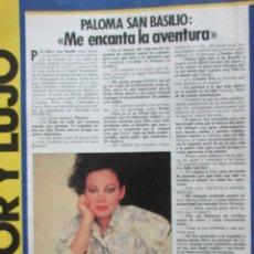 Collectionnisme de Magazine Interviú: RECORTE REVISTA INTERVIU 490. 1985. PALOMA SAN BASILIO. Lote 113775703