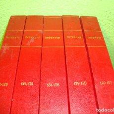 Coleccionismo de Revista Interviú: REVISTA INTERVIU ENCUADERNADO DEL NUMERO 111 AL 157 EN CINCO TOMOS AÑO 1978 VER FOTOS. Lote 114138151