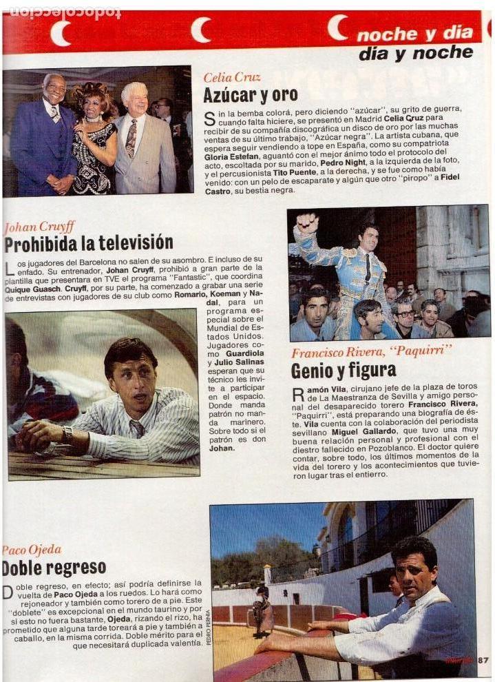 Coleccionismo de Revista Interviú: patricia perez.gran wyoming.rocio jurado.julio alberto.cruyff.claudia schiffer. - Foto 6 - 115930275