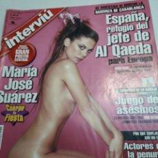 Coleccionismo de Revista Interviú: REVISTA INTERVIÚ NÚMERO 1413 AÑO 27. Lote 236285480
