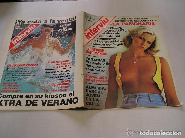 Coleccionismo de Revista Interviú: interviu lote 9 revistas 5,9,13,14,15,17,70,93 y 20 años de interviu - Foto 11 - 117169995