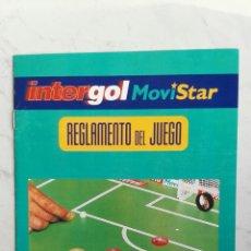 Coleccionismo de Revista Interviú: REGLAMENTO DEL JUEGO INTERGOL MOVISTAR INTERVIÚ JUEGO DE CHAPAS. Lote 117320323
