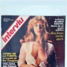 Coleccionismo de Revista Interviú: REVISTA INTERVIU N°45 ALICIA TOMAD 1977. Lote 118038675