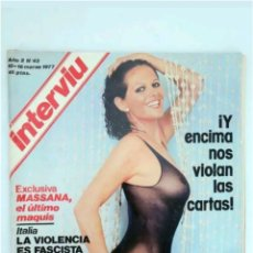 Coleccionismo de Revista Interviú: REVISTA INTERVIÚ N°43 BARBARA BOUCHET 1977. Lote 118038980