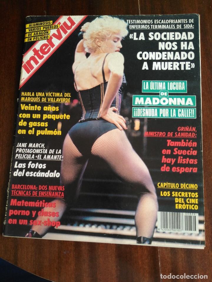 Interviú 826 Madonna Desnuda Por La Calle Publicidad Pegaso Jane March