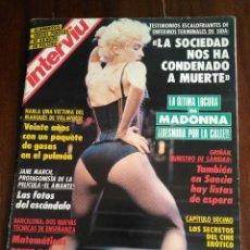 Coleccionismo de Revista Interviú: INTERVIÚ 826. MADONNA DESNUDA POR LA CALLE. PUBLICIDAD PEGASO. JANE MARCH. Lote 118930567