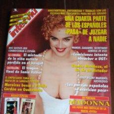 Coleccionismo de Revista Interviú: INTERVIÚ 1022. MADONNA - EVITA. HARLEY DAVIDSON. Lote 118931319