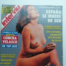 Coleccionismo de Revista Interviú: REVISTA INTERVIU Nº 842 AÑO 1992. PORTADA: CONCHA VELASCO.. Lote 121679055