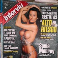 Coleccionismo de Revista Interviú: INTERVIU Nº 1350, MARZO DE 2002: SONIA MONROY.GEORGE MICHAEL.EUROVISION 2002.LEONARDO SBARAGLIA.AUTE. Lote 122674111
