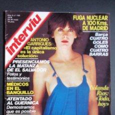 Coleccionismo de Revista Interviú: REVISTA INTERVIU Nº 158. FUGA NUCLEAR/BARÇA 4 GOLES/MATANZA EL SALVADOR/FALSO CURA. Lote 123438703