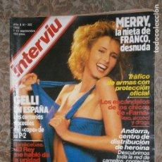 Coleccionismo de Revista Interviú: (F.1) INTERVIÚ Nº 382 AÑO 1983( REPORTAJE A MENOTTI: NO CREO EN DIOS CREO EN EL HOMBRE. Lote 127216631