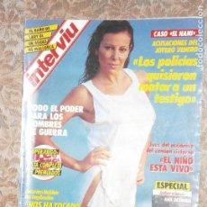Coleccionismo de Revista Interviú: (F.1) INTERVIÚ Nº 535 AÑO 1986(ESPIONAJE A LOS PARTIDOS POLITICOS: BARRIONUEVO Y GUERRA PUEDEN SER . Lote 127218463