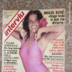 Coleccionismo de Revista Interviú: (F.1) INTERVIÚ Nº 176 AÑO 1979( REPORTAJE A ARAFAT EN ESPAÑA..NO APOYAMOS A E.T.A.). Lote 127613355