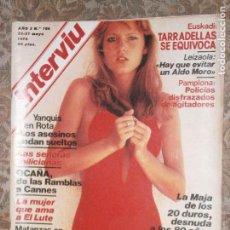 Coleccionismo de Revista Interviú: (F.1) INTERVIÚ Nº 166 AÑO 1978( AMPLIO REPORTAJE..LA MUJER QUE AMA AL ..LUTE.. KRISTINA BONILLA). Lote 127613563