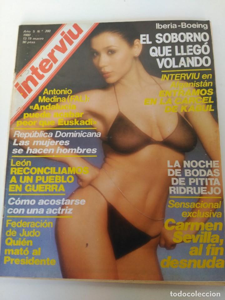 Revista Interviú 19 Marzo 1980 Carmen Sevilla Al Fin Desnuda Tita Ridruejo León
