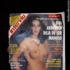Coleccionismo de Revista Interviú: INTERVIÚ N° 907. BIBI ANDERSEN.. Lote 130209131