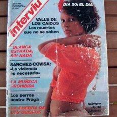 Coleccionismo de Revista Interviú: INTERVIU Nº 28 / BLANCA ESTRADA, ROSA VALENTY, MICHEL PICCOLI, TAMAÑO NATURAL DE BERLANGA. Lote 130788348