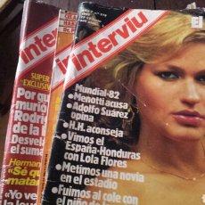 Coleccionismo de Revista Interviú: INTERVIU LOTE 26 REVISTAS AÑOS 80. Lote 132865711