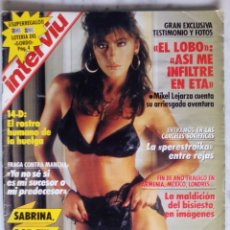 Coleccionismo de Revista Interviú: REVISTA INTERVIU - Nº 658 - 1988 - SABRINA - . Lote 133409022